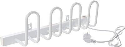VILSTEIN Séchoir électrique pour Chaussures pour 2 Paires de Chaussures 520 x 130 mm Fixation Murale Blanc