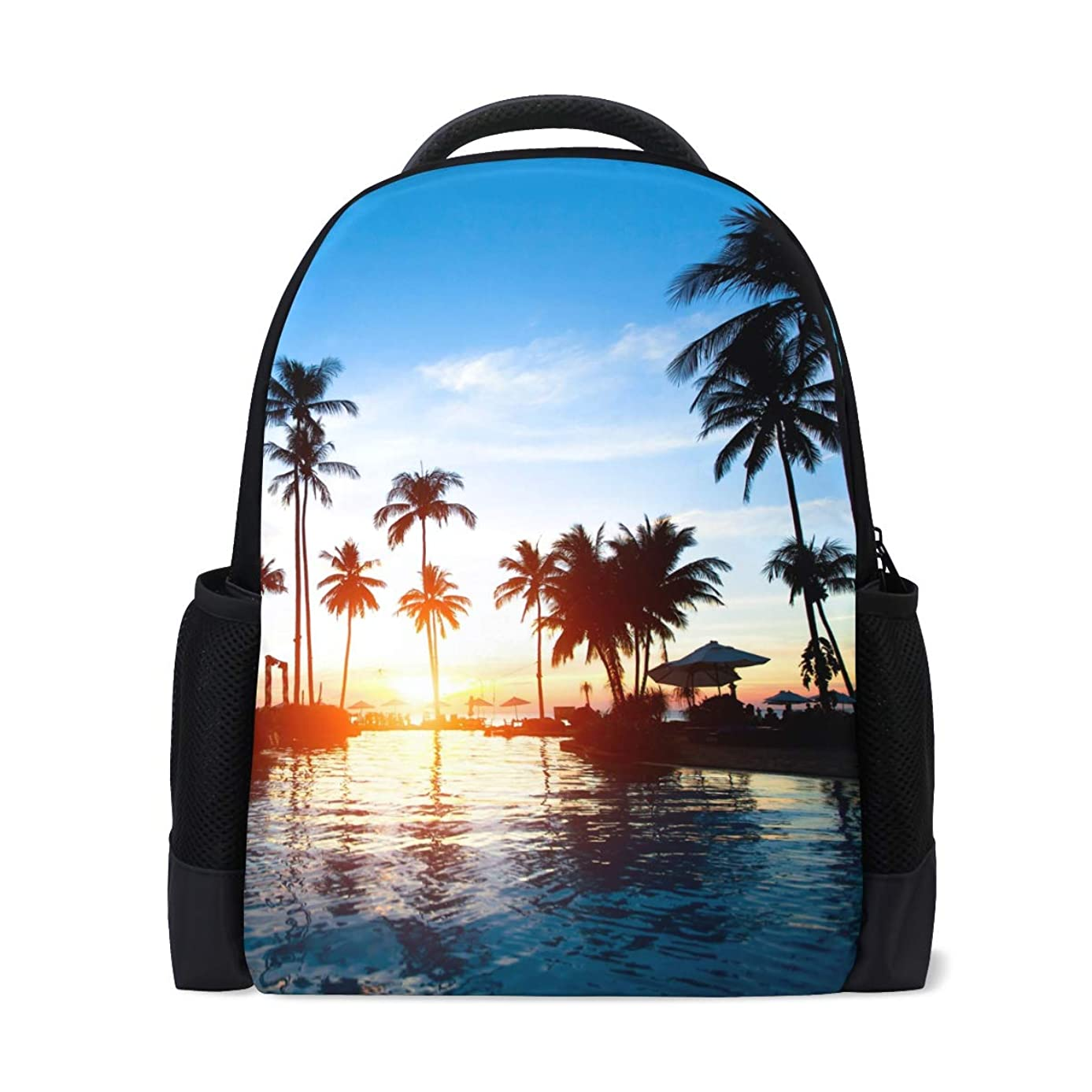 Backpack Bookbag Daypack Tropical Sunrise Landscape Waterproof for Middle Travel Girls Boys
