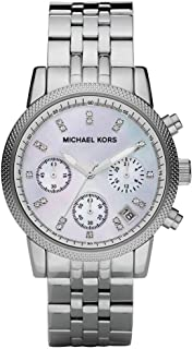 Michael Kors Chronograph Watch for Women - Analog Stainless Steel Band - MK5020