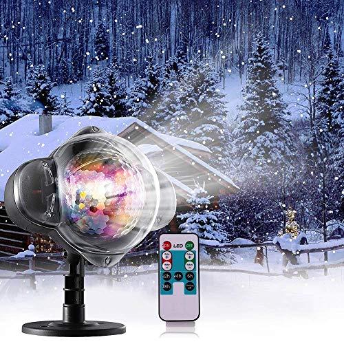 Schneefall-im Freien geführte Weihnachtslichter Projektor-Show wasserdichte Projektions-Schneeflocke-Lampe für Weihnachten-Halloween-Partei-Hochzeit und Garten-Dekorationen