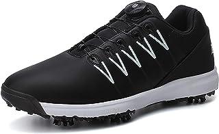 Golfschoenen voor volwassenen, uniseks Lichtgewicht Golf Shoes Verwijderbare spikes Waterdicht, ademend BOA-vetersysteem A...