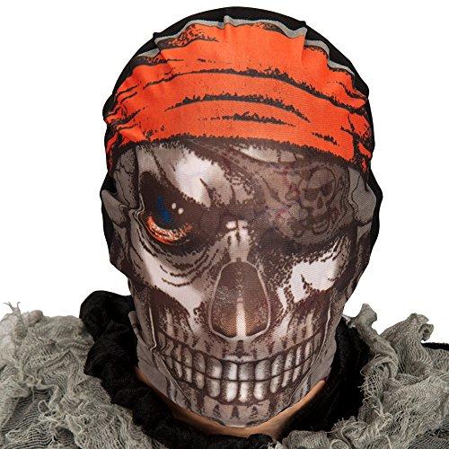Máscara de pirata con tejido elástico.