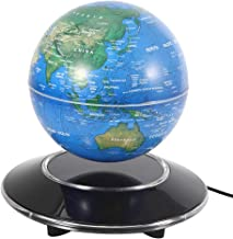 Jimfoty Magnetic Levitation Floating Globe, 8 Inch Floating Rotating Globe Toy with LED Light, Mysteriously Suspended in Air World Map Christmas Desk Decoration Gift(Blue US Plug)