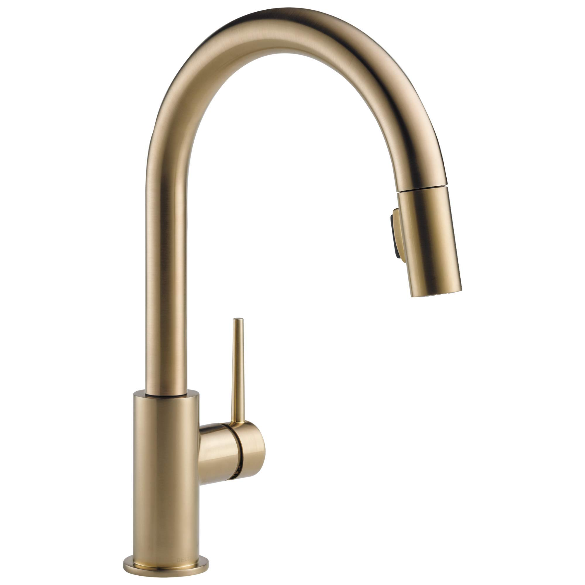 Amazon Com Delta Trinsic Single Handle Kitchen Sink Faucet With Pull Down Sprayer And Magnetic Docking Spray Head Champagne Bronze 9159 Cz Dst Home Improvement