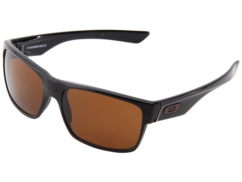 Oakley Two Face (Polished Black/Dark Bronze) Sport Sunglasses