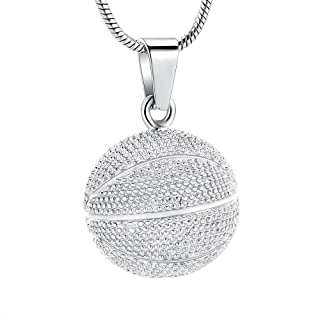 قلادة حفظ رماد كرة السلة مجوهرات للرماد قلادة تذكار للنساء والرجال