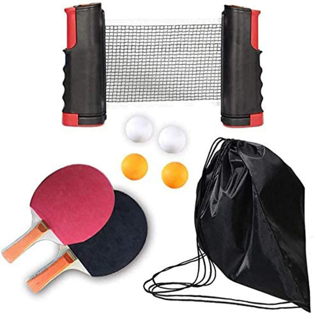 Table Tennis Set with 2 Ping Balls Paddles Ne Expandable 4 Outlet SALE Manufacturer regenerated product Pong