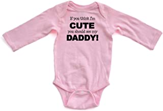 FORESTIME Newborn Baby Boys Girls Funny/ Romper Jumpsuit Letter If You Think Im Cute You Should See My Daddy Mommy