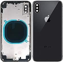 Back Housing Assembly Metal Frame w/Back Glass(OEM) - Camera Frame and Lens for iPhone X (Black)