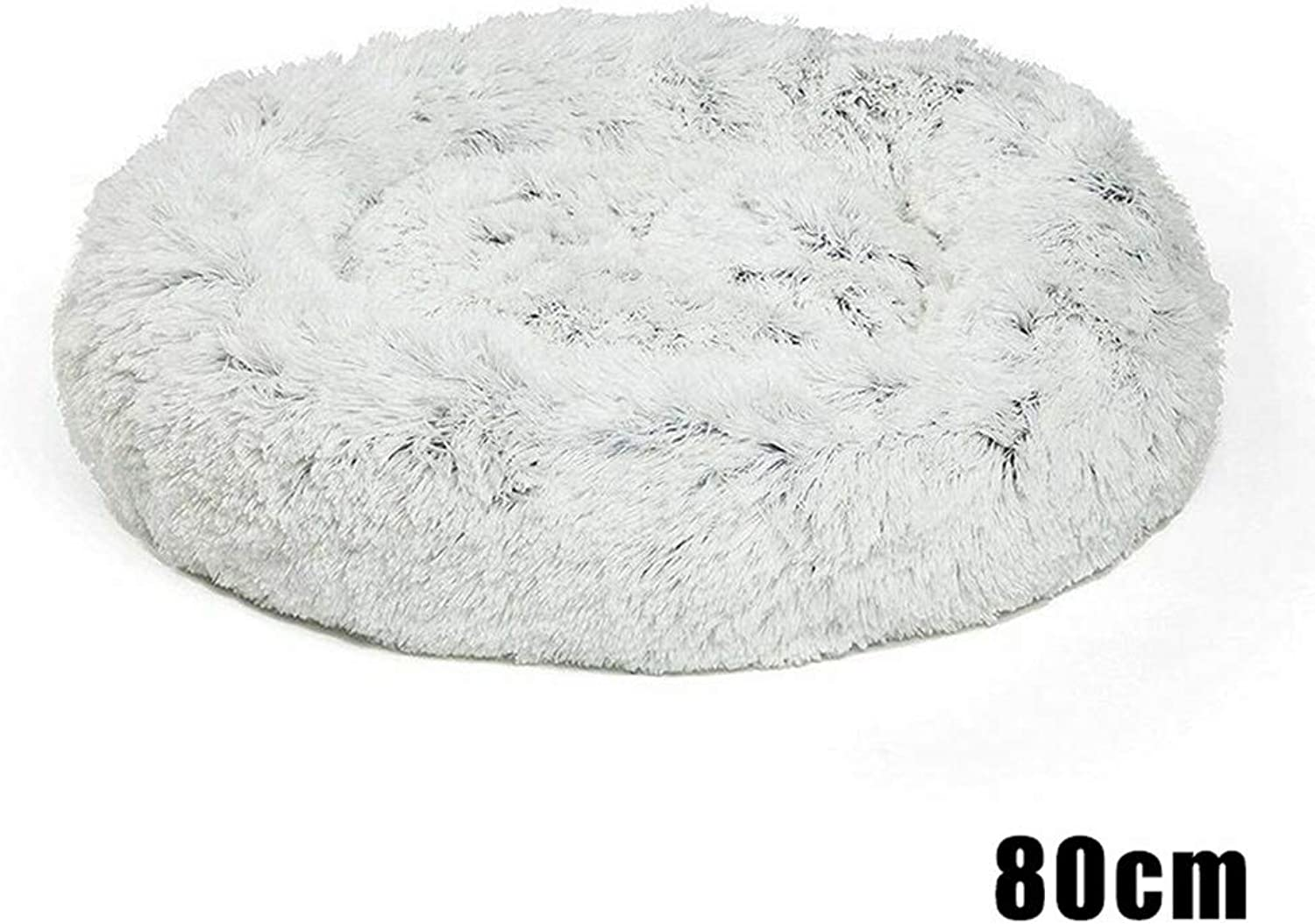 Aslion Shag Faux Fur Donut Cuddler Cat Bed Warm Plush Dog Puppy Mat Pet Bed