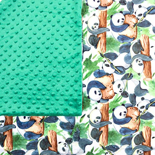 Weighted Sensory Blanket (7lbs) For Kids (60-80lbs)- Ideal For Children With Anxiety, SPD, Autism, ADHD Or Hyperactivity. Helps Settle, Get To Sleep Faster & Reduce Meltdowns (40 X 60in-Panda)