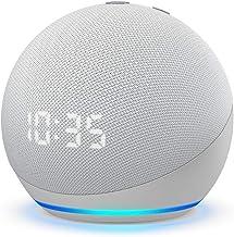 Nuevo Echo Dot (4ta Gen) - Bocina inteligente con reloj y Alexa - Blanco
