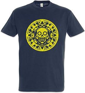 Urban Backwoods Aztec Skull Symbol Hombre T-Shirt