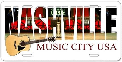 /Nashville m/úsica City Estados Unidos/ CafePress/ /Placa de Licencia frontal de aluminio placa de licencia tocador etiqueta