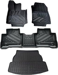 YAOFAO RAV4 Floor Mats & Cargo Liner Compatible with RAV4 2019 2020 2021 ToyotaTPE Custom Fit Black Floor Liner