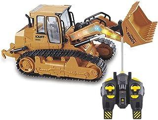 GRTVF Chicos RC Cargador de camiones Ingeniería Vehículo Bulldozer Control Remoto Excavadora Palho Cargador Radio-Controla...