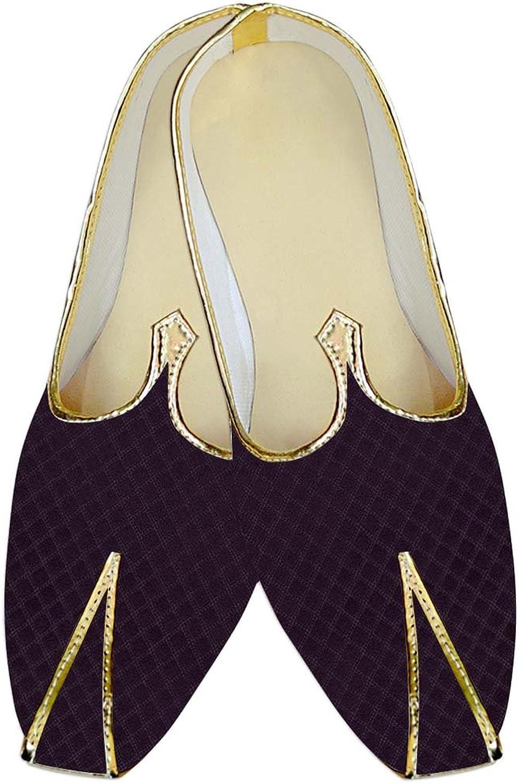 INMONARCH Mens Purple Wine Wedding shoes Special MJ015157