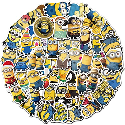 QINGMI /Pack Minions Funny Graffiti Lable Stickers For Notebook Motorcycle Skateboard Computer Mobile Phone Decal Cartoon Toy Etc 50Pcs