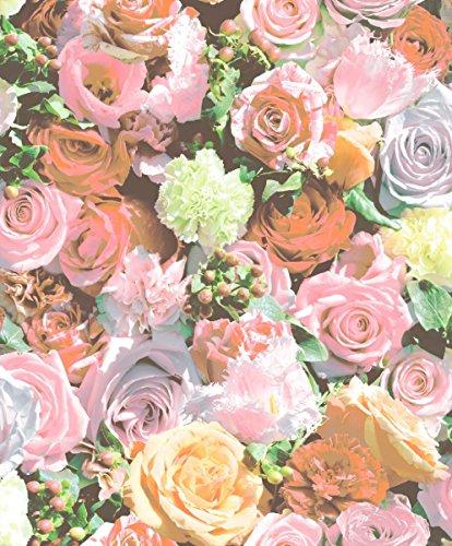 UGEPA J97003 Vliestapete Blumenmuster