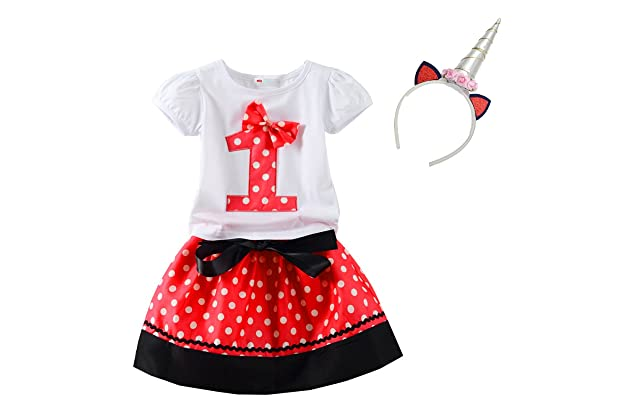 Mud Kingdom Little Girls Birthday Clothes Sets Gifts