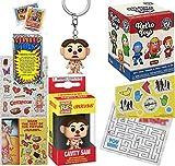Sam Operate - Figura de misterio retro con cavidad Sam Pocket Pop! Operación + laberinto trenzado + pegatinas clásicas de juego + tarjetas de comercio de juguetes vintage, 5 artículos