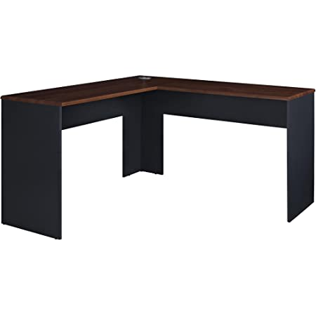 Amazon Com Ameriwood Home The Works L Shaped Desk Cherry Furniture Decor