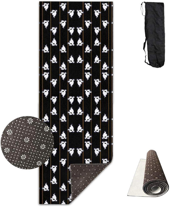 a00fe2982708 70Inch Long Comfort Velvet Yoga Mat, Boo in Black Fabric (2617) Mat ...