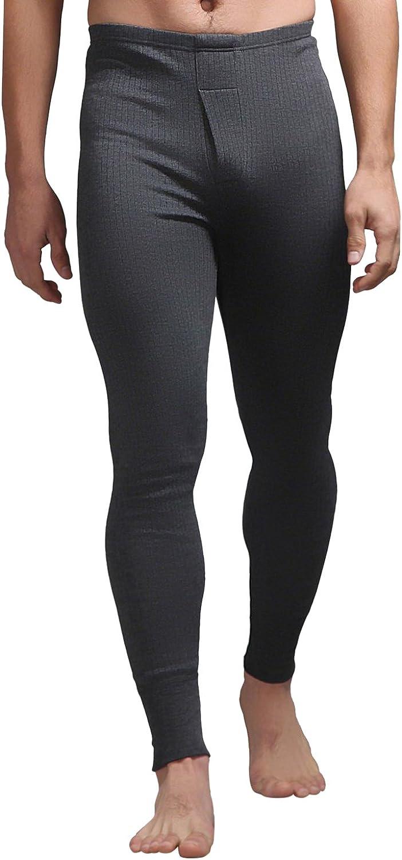HEAT HOLDERS Mens Cotton Thermal Underwear Long Johns Charcoal Medium 33-35