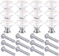 LINVINC 25Mm Crystal Ladeknoppen Diamond Door Handle, Voor Huisdecoratie Van Garderobe Lade Deur Kast Handvat,Zilver