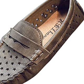 Hopscotch Boys PU Loafers in Green Color