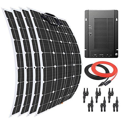 Giosolar Panneau solaire 400 W Flexible kit Panneau solaire chargeur de batterie monocristallin solaire MPPT 40 A contrôleur pour bateau caravane Photonic Universe