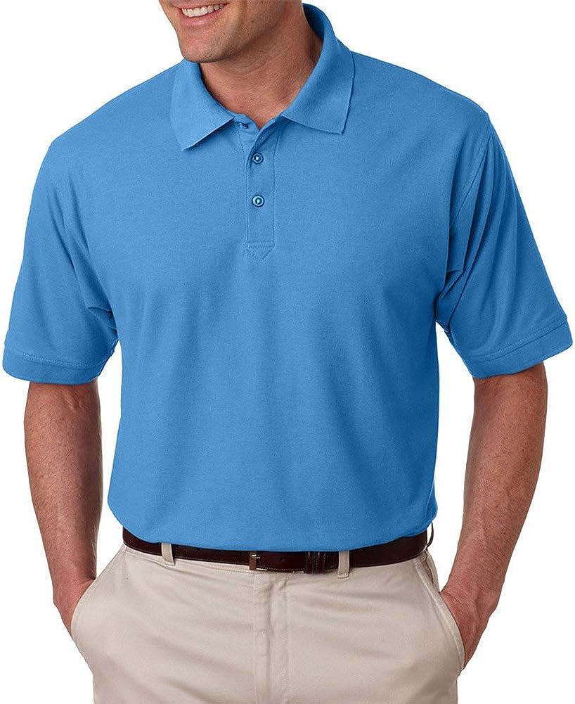 UltraClub Men's Tall Fit Whisper Pique Polo Shirt
