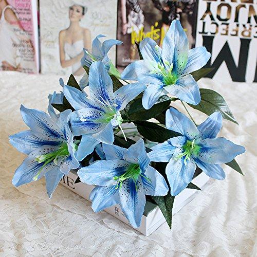 Wffo - Ramo de Flores Artificiales de Seda, 10 Cabezas, para Boda, Fiesta, decoración