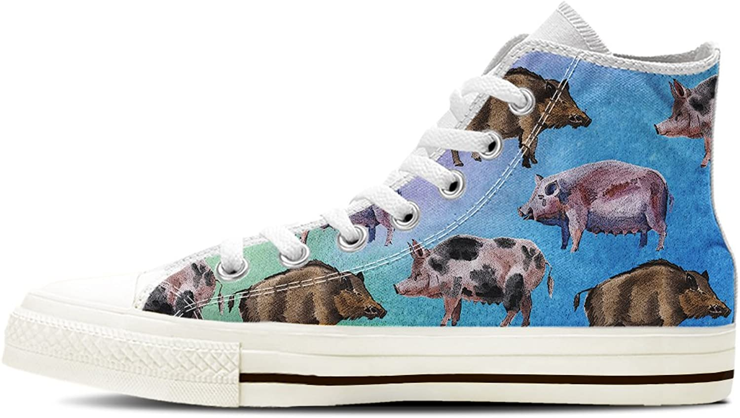 Gnarly Tees Women's Pig Pattern shoes High Top