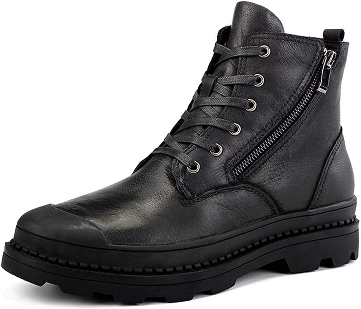 Men Martin Boots Autumn Winter New Tooling shoes Plus Velvet Leather Boots Large Size