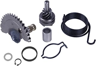 Glixal ATMT1-166-2 GY6 50cc 55mm kick start shaft with idle gear sets for 139QMB 1P39QMB Chinese Scooter Moped ATV Go Kart Engine