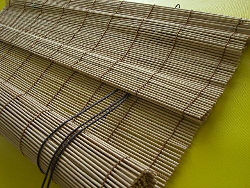 JalousieCrew Bambusrollo Bambus Raffrollo Natur Breite 60-140cm Länge 160 und 240cm Seitenzug Fenster Tür Rollos Holzrollo (120 x 160 cm)