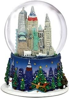 3.5 Inch New York City Christmas Snow Globe and Rockefeller Center Skyline NYC Snow Globes