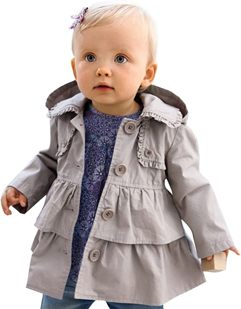 TiaoBug Baby SEAL limited product Girls Kids Outfits Trench 2021 new Hoodie Dust Dre Wind Coat