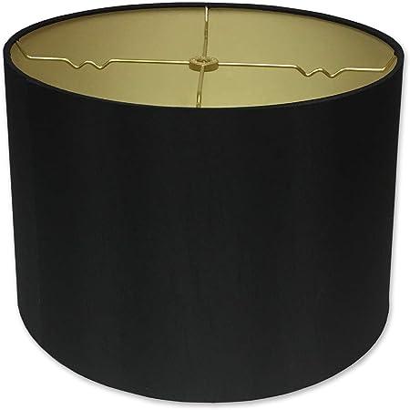 Royal Designs Hb 610 12blk Gl Shallow Drum Hardback Lamp Shade 11 X 12 X 8 5 Black Amazon Com