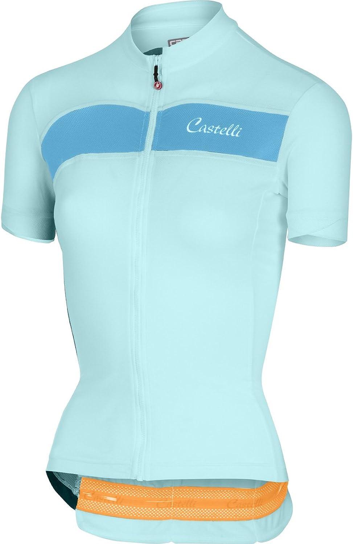 Castelli Scheggia Womens Bike Jersey Glacier Lake Sky blueee 2019