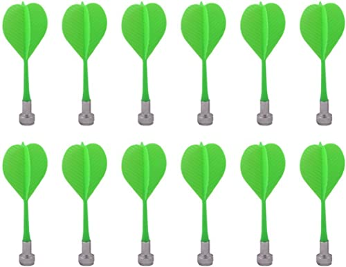 high quality Mallofusa 12pcs Safe Plastic Wing Magnetic Dartboard Dart Bullseye Target wholesale Game outlet online sale Board Game Toy Plastic Darts (Green) online sale