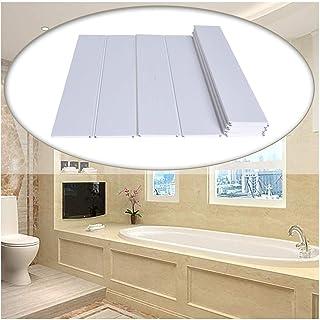 お風呂 ふた 風呂ふた 抗菌、バスタブカバー PVC防水バスルームシェルフを厚くする 断熱ボード お手入れが簡単 複数のサイズ (Color : White, Size : L0.9X0.68M)