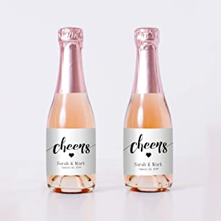 mini champagne labels