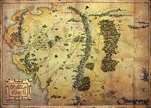 The Hobbit - Middle Earth - Map