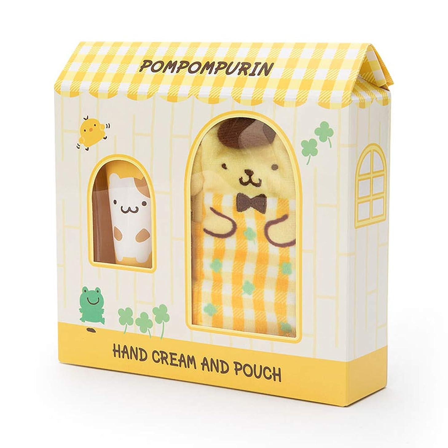 千ジャンク謙虚なポムポムプリン プチポーチ付きハンドクリーム