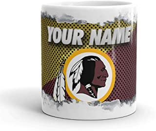 Washington Redskins Color Blast Custom Personalized Name Football Coffee Mug Gift (11oz)