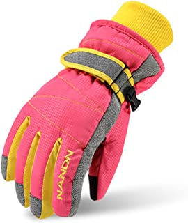 Magarrow Kids Winter Warm Windproof Outdoor Ski Gloves Cycling Gloves For Boys Girls