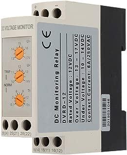 Voltage Monitoring Relay DC 12V/24V/36V/48V Over-Voltage and Under-Voltage Protection Relay 35MM Guide Rail 13-17V 10-14V(DC12V)