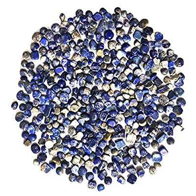 Quartz Stones Lapis Lazuli Tumbled Chips Crushed Stone Crystal Natural Rocks Healing Home Indoor Decorative Gravel Feng Shui Healing Stones Jewelry Making Plants Decoration